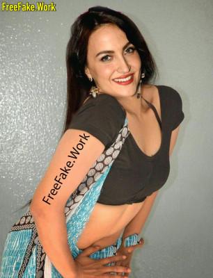 Elli-AvrRam-sexy-black-blouse-low-neck-cleavage-xxx-saree-image.md.jpg