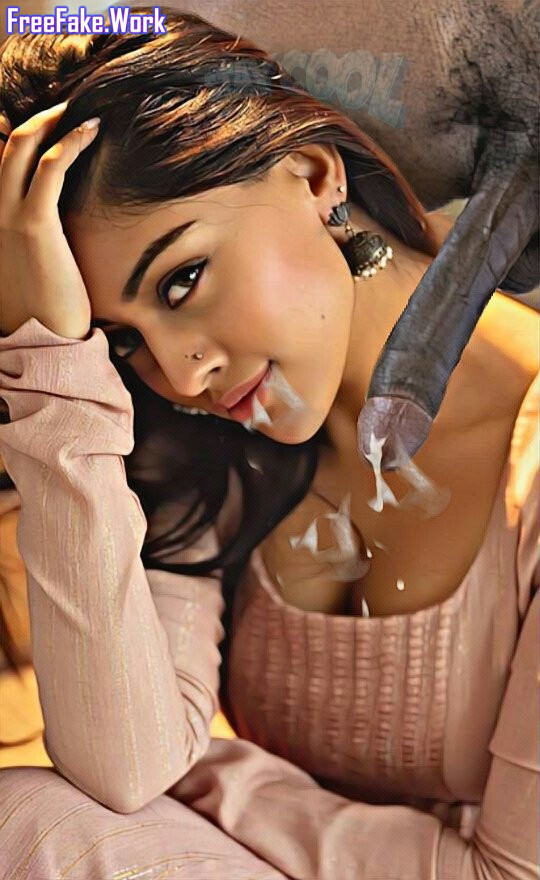 Tamil-hero-black-cock-cum-on-Anu-Emmanuel-cleavage-low-neck-dress.jpg