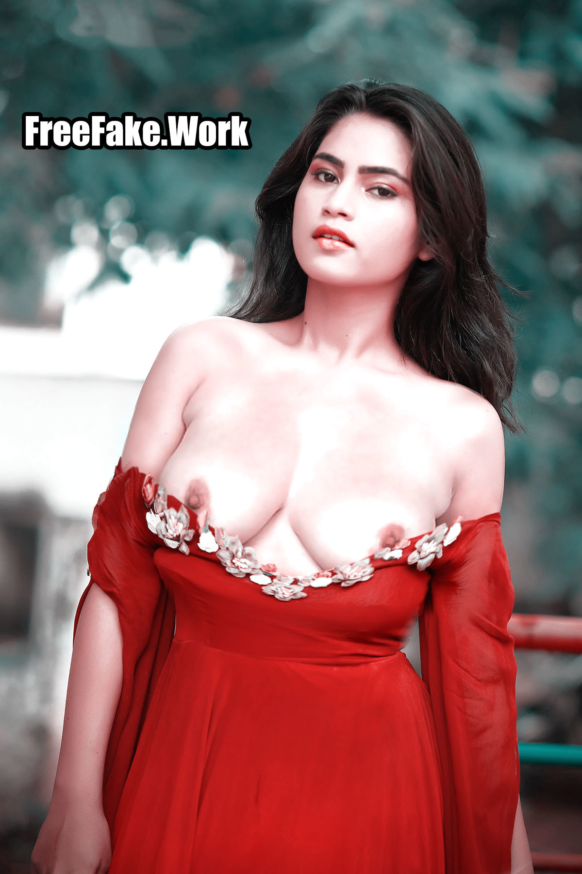 Sowmya-Dhanavath-nude-boobs-exposed-without-bra-outdoor-photoshoot-blouse-slipped.jpg
